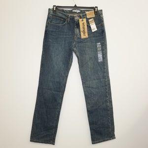 Wrangler Slim Straight Blue Denim Jeans 33 x 34